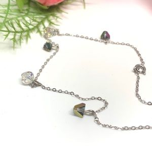 ⚜️VINTAGE Sterling & Aurora Borealis Necklace